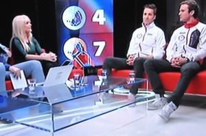 Jørgen Graabak og Magnus Moan i OL studio hos TV2