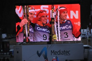 GST løperne flankerer vinneren, Jørgen nr 2, Magnus nr 3